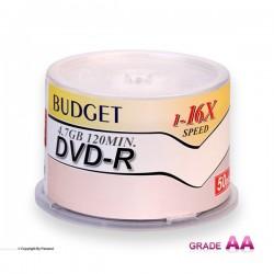 دی وی دی باجت مشکی باکس دار 50 عددی (BUDGET)