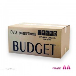 دی وی دی باجت مشکی کارتن 600 عددی (BUDGET)