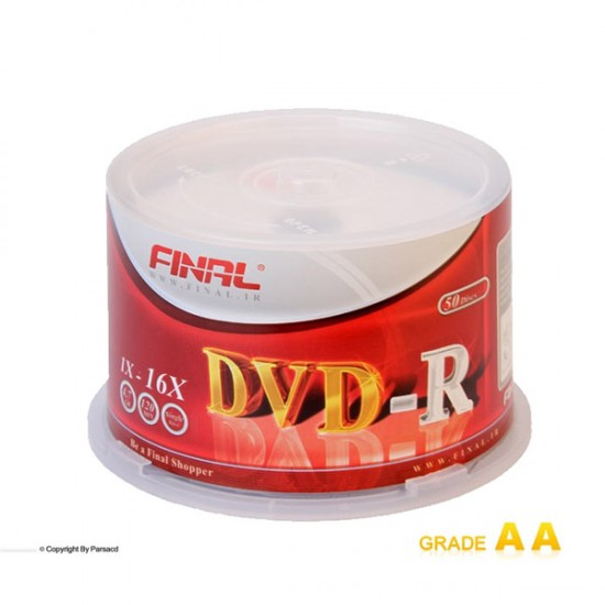 قیمت دی وی دی فینال باکس دار 50 عددی  برند FINAL