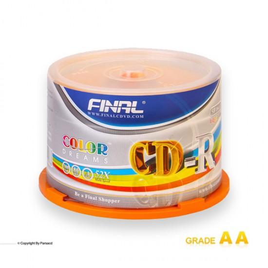 سی دی خام فینال طلایی باکس دار 50 عددی (FINAL)
